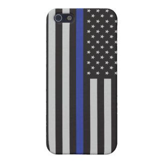Stützen Sie die Polizei-dünne Blue iPhone 5 Hülle