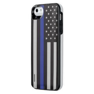 Stützen Sie die Polizei-dünne Blue iPhone SE/5/5s Batterie Hülle