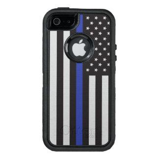 Stützen Sie die Polizei-dünne Blue OtterBox iPhone 5/5s/SE Hülle