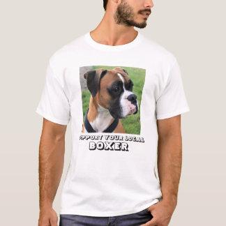 STÜTZEN Sie IHR LOKALES BOXER-Weiß T-Shirt