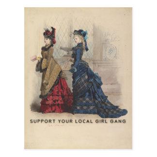 Stützen Sie Ihre lokale Mädchen-Gruppe Postkarte