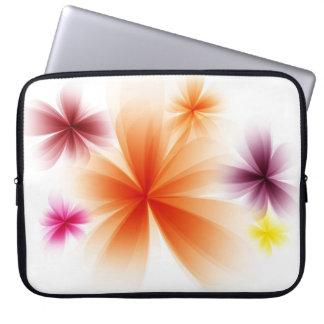 Stylized Blumen Laptop Sleeve Schutzhülle