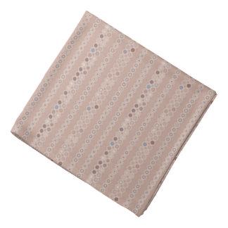 Subtiler beige Octagon-Streifen geometrisch Kopftuch