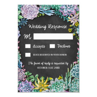 Succulent-und Tafel-rustikale Hochzeit UAWG Karten 8,9 X 12,7 Cm Einladungskarte