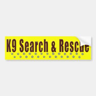 Suche K9 u. Rettung Autoaufkleber