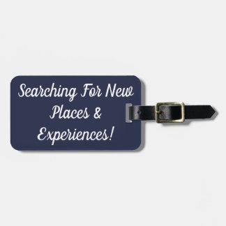 Suchen nach neuen Plätzen u. Gepäckanhänger
