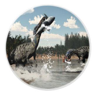 Suchomimus Dinosaurier, die Fische und Haifisch Keramikknauf