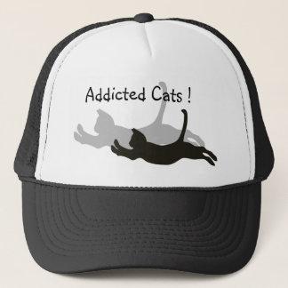 Süchtige Katzen! Truckerkappe