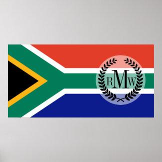 Südafrikanische Flagge Poster