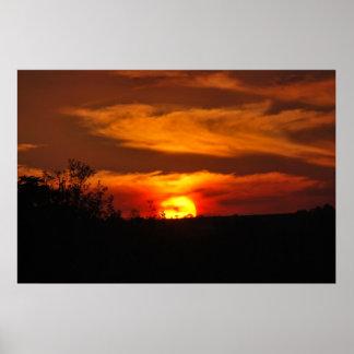 Südafrikanischer Sonnenuntergang Poster
