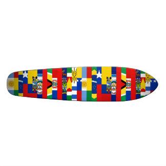 Südamerikanisches Flaggen-Skateboard Bedruckte Skateboarddecks