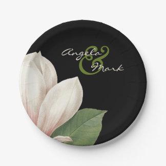 Südliche Magnolien-Blume, die | elegantes Pappteller