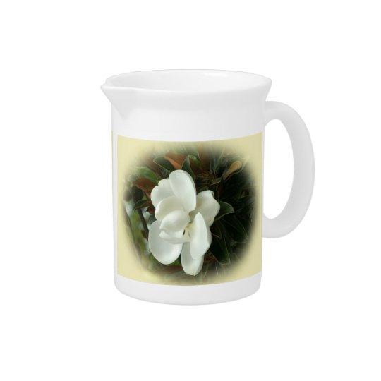 Südliche Magnolien-Blüten-Porzellan-Krug Krug