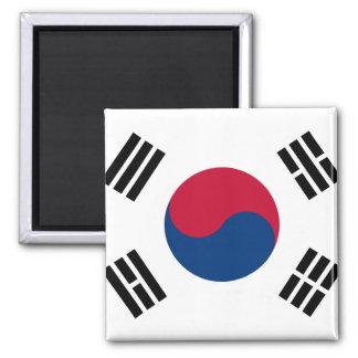 Südnationale Weltflagge koreas Quadratischer Magnet