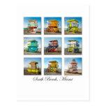 Südstrand, Miami-Leben-Schutz-Bretterbuden Postkarten