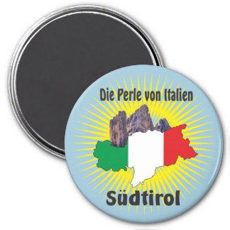 Südtirol – Alto Adige - Italien - Italia Magnete Runder Magnet 7,6 Cm