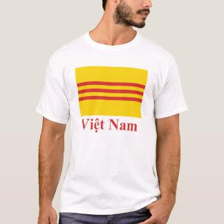 Südvietnam-Flagge mit Namen auf Vietnamesen T-Shirt