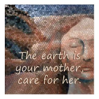 SüdwestUreinwohner-Mutter Erden-Acrylquadrat Acryl Wandkunst