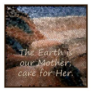 SüdwestUreinwohner-Mutter Erden-Plakat Perfektes Poster