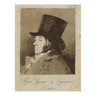 Sumario Beschreibung Capricho n? 1: Francisco Goya Postkarte