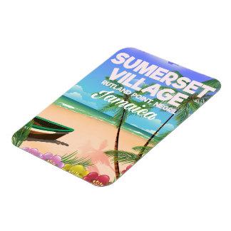 Sumerset Dorf-Jamaika-Reiseplakat Magnet
