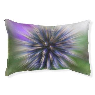 Summen-Blumen-lila und grüne Digital-Kunst Haustierbett