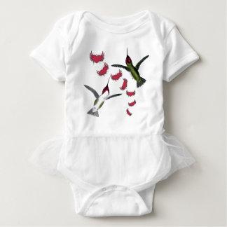 Summenvogel-Schmutz-Herzen mit Flügeln Baby Strampler