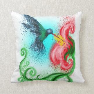 Summenvogel und Blumen-Kissen Kissen