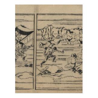 Sumo circa 1600s Japan Postkarte
