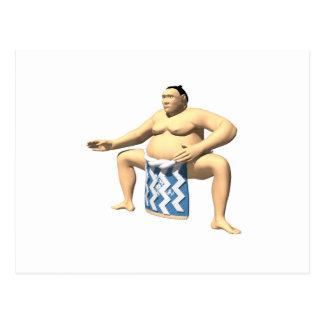 Sumo-Ringkämpfer 2 Postkarte