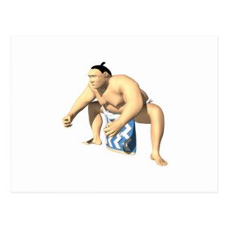 Sumo-Ringkämpfer 3 Postkarte