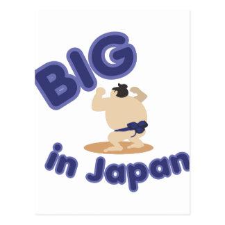 Sumo-Ringkämpfer groß in Japan Postkarte