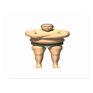 Sumo-Ringkämpfer Postkarte
