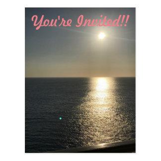 Sun auf Wasser Postkarte