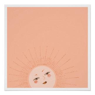 Sun - Aufstieg und Glanz (Morgen) Perfektes Poster