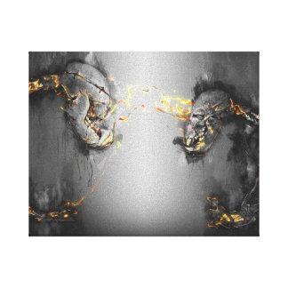 Sun-Bär Kunst-vor der Kampfskelett Kunst-Reihe Leinwanddruck