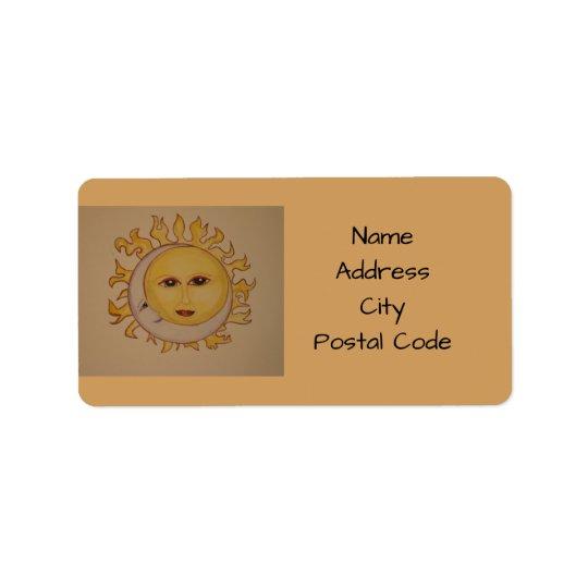 Sun-Mond-Adressen-Etiketten Adressetiketten