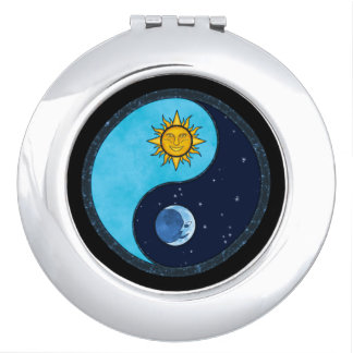 Sun-Mond Yin Yang Symbol Taschenspiegel