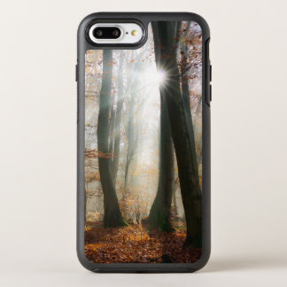 Sun Rays nebelhaftes landschaftliches WaldFoto - OtterBox Symmetry iPhone 8 Plus/7 Plus Hülle