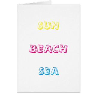 Sun-Strand-Meer Karte