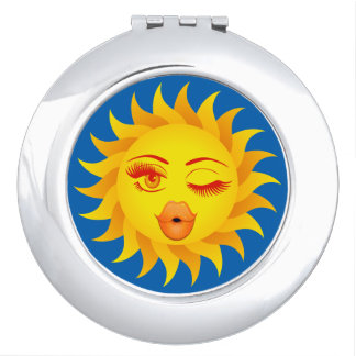 Sun-Symbol - Sun geküsst Taschenspiegel