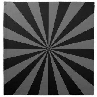 Sunbeam in den schwarzen und grauen Servietten