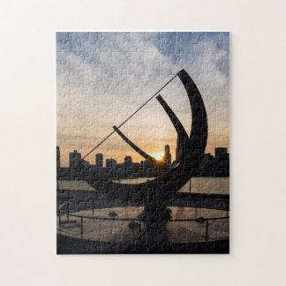 Sundial-Sonnenuntergang Puzzle