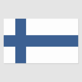 SUOMI FINNLAND FLAGGE RECHTECKIGER AUFKLEBER