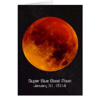 Super blaues Blut-Mond 2018 Karte