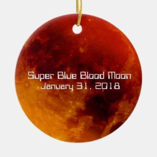 Super blaues Blut-Mond 2018 Keramik Ornament