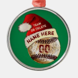 Super coole Baseball-Spieler-Verzierungen, Silbernes Ornament
