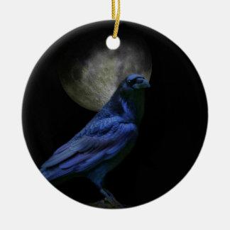 Super coole gotische Feiertag Verzierung mit Raben Keramik Ornament