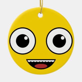 Super glückliches Gesicht Keramik Ornament