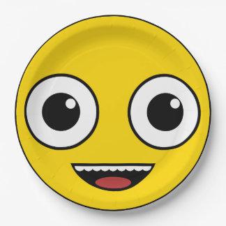 Super glückliches Gesicht Pappteller